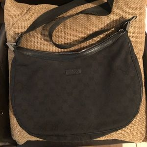 Authentic Gucci Black Canvas Bag